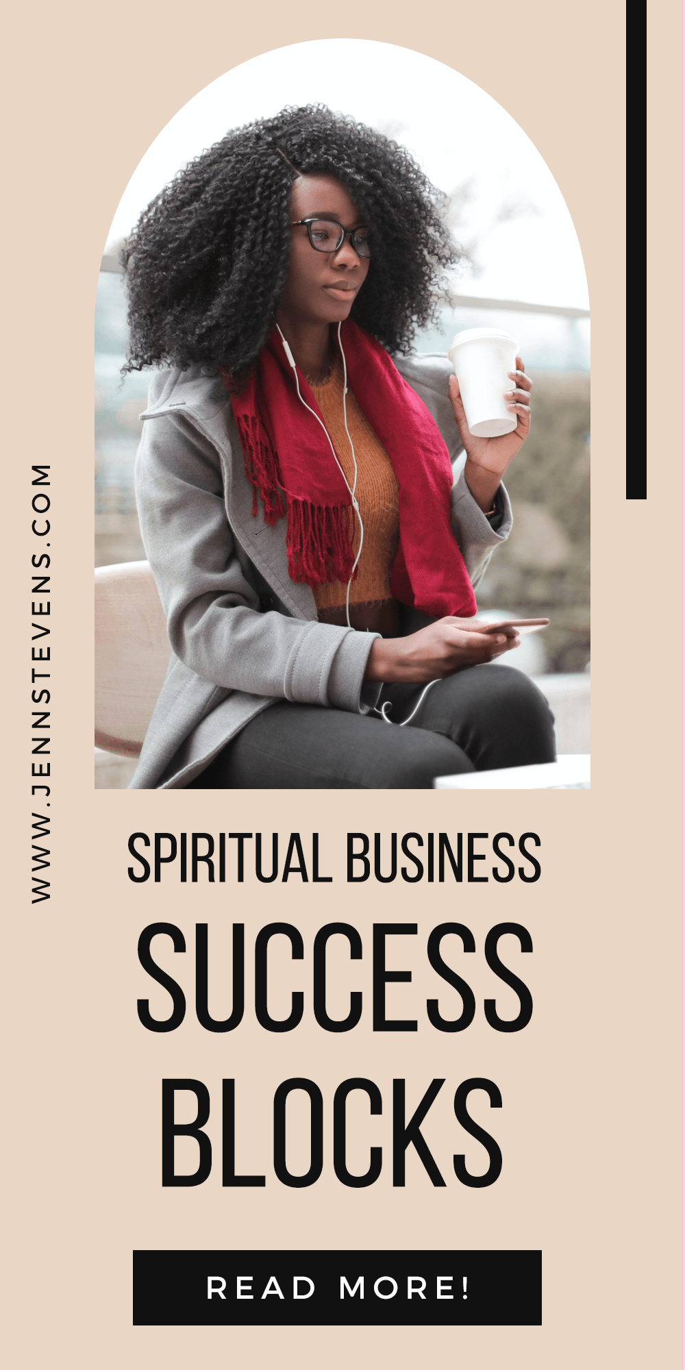 woman on laptop with text Spiritual Entrepreneurs! 9 Success Blocks You Need To Fix
